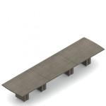 "192"" x 48"" zira bow end boardroom table"