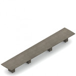 "264"" x 48"" zira bow end boardroom table"
