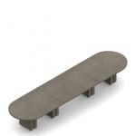 """216"""" x 48"""" zira racetrack boardroom table"""