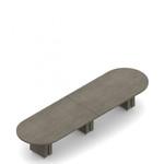 """168"""" x 48"""" zira racetrack boardroom table"""