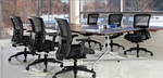 Global Alba 8' Rectangular Conference Table with Metal Bases