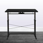 flash furniture small black height adjustable table