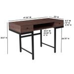 flash furniture bartlett mid century desk dimensions