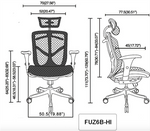 Eurotech Seating Fuzion High Back Mesh Chair FUZ6B-HI