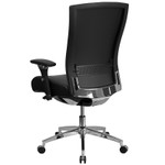 flash furniture high back 24 hour intensive use office chair back view