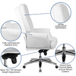 tufted office chair features