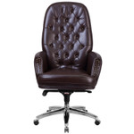 flash furniture tufted brown leather executive chair