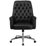 mid back tufted office chair front view