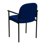 navy fabric guest chair
