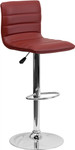 Burgundy Vinyl Armless Bar Stool with Retro Style by Flash Furniture