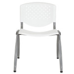white stack chair front