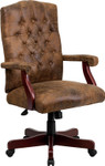 tufted suede office chair