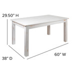 white farm table dimensions