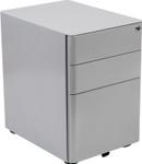 gray desk pedestal