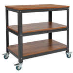 mobile multi purpose cart by flash furniture - angled view