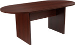6' oval mahogany conference table by flash furniture