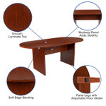 6' cherry conference table features