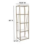 mar vista gold bookcase dimensions
