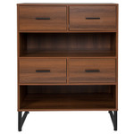 flash furniture lincoln bookcase
