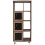 flash furniture woodridge storage cabinet and bookcase