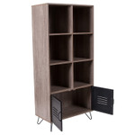 woodridge storage cube bookcase with metal doors