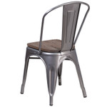 metal stack chair back view
