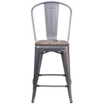 metal counter stool front view