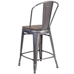 metal counter stool back view