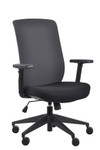 Eurotech Seating Gene Charcoal Fabric Back Task Chair
