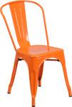 orange metal restaurant stack chair