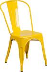 yellow metal restaurant stack chair