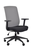 Eurotech Seating Gene Grey Fabric Back Task Chair