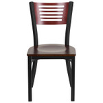 mahogany restaurant chair front view