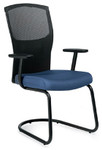 Global Alero Series 1962 Fabric Arm Chair with Mesh Back