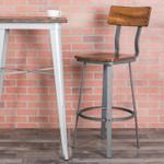 flint rustic walnut bar stool in space