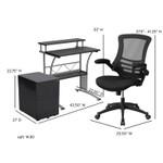 small computer furniture set dimensions