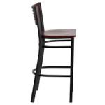 mahogany bar stool side