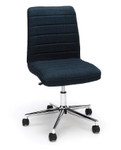 blue essentials ribbed back home office chair