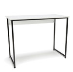 black frame white top essentials small home office desk
