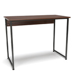 gray frame walnut top essentials small home office desk
