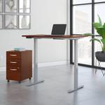 hansen cherry ergonomic desk with file