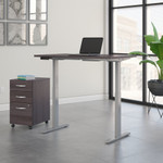 move 60 storm gray 48 x 30 adjustable desk with file