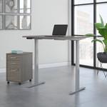 move 60 cocoa 48 x 30 adjustable desk with file