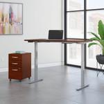 natural cherry 72x30 ergonomic desk with file