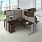oiah007 4 person mocha cherry cubicle