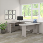 pewter series a u shaped corner desk
