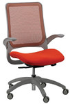 Eurotech Seating Hawk Series Orange Mesh Office Chair with Grey Frame