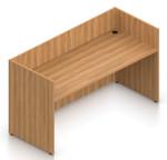 walnut superior laminate reception desk shell
