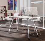 aim collaborative standing table with casters