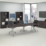 storm gray boat shaped conference table
